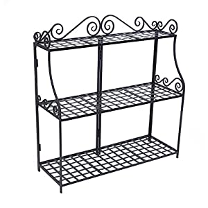 Amazoncom PS3T Handcrafted Rectangular Metal Plant Stand