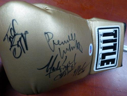 USA Autographed Boxing Glove 4 Sigs Whitaker Breland Taylor Biggs 121086 PSA/DNA Certified Autographed Boxing Gloves