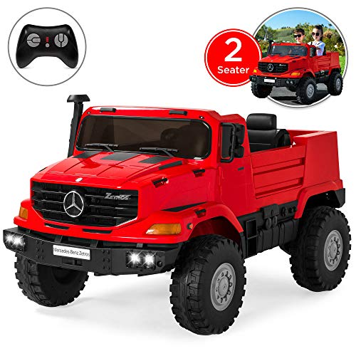 Best Choice Products Kids 24V 2-Seater Mercedes-Benz Ride On SUV Truck w/ Remote Control, 3.7 MPH Max, Lights - Red