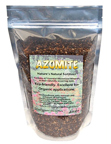 Azomite - Organic Fertilizer Booster, Soil Amendment, Animal Supplement Containing Over 67 Trace Minerals. 3 lbs. (Micro Plant Grower compare prices)