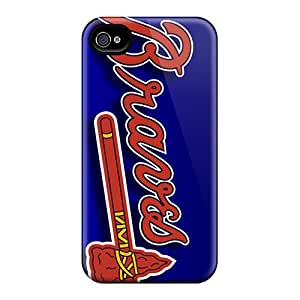 No1cases Iphone 4/4s Scratch Resistant Cell-phone Hard Covers Provide Private Custom Nice Atlanta Braves Series [fJm3326cGot]