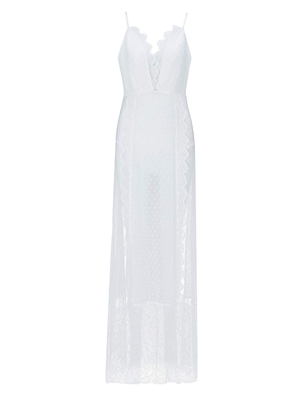 Hego Womens V-Neck Backless Fishtail Bandage Formal Evening Dresses Long H2082