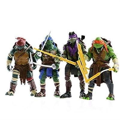NEWEST! 4PCS Lot TMNT Teenage Mutant Ninja Turtles Action Figures Anime Movie Xmas Gift