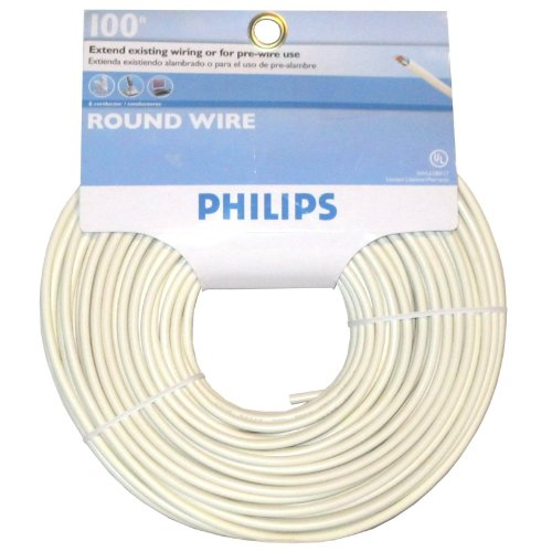 100' Almond - Philips 100' 6 Conductor Round Wire (SWL6180/17 Almond)