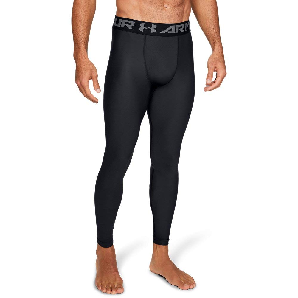 Under Armour Men's HeatGear Armour 2.0 Leggings, Black (001)/Graphite, XX-Large Tall by Under Armour