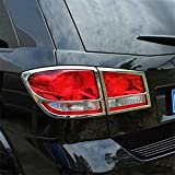 Vesul Chrome Rear Taillight Taillamp Cover Trim 4pcs For Dodge Journey 2011-2014