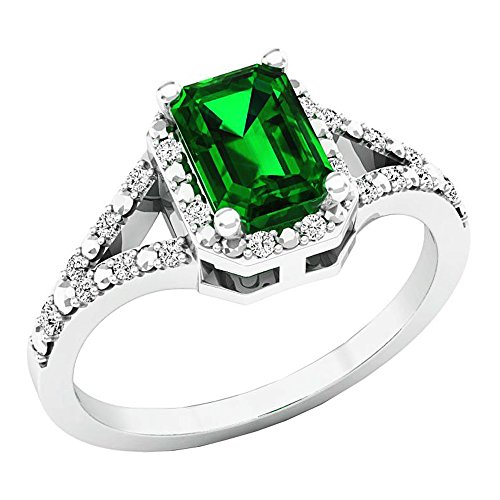 Sterling Silver 7x5 Emerald - 1