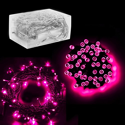 30 Mini Bulb LED Battery Operated Fairy String Lights in Pink for Valentines Day, Romantic Wedding, Home Decoration Room Lighting, Christmas, Crafts (158