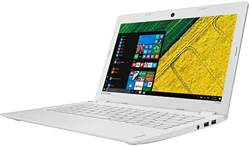 2017 Lenovo 110s Premium Built High Performance 11.6 inch HD Laptop pc Intel Celeron Dual-Core Processor 2GB RAM 32G eMMC Storage Webcam Bluetooth WiFi HDMI 1-Year Office Windows 10-White