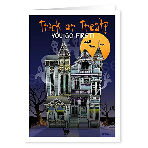 Trick or Treat? You Go First Funny Halloween Card - 18 Cards & Envelopes]()