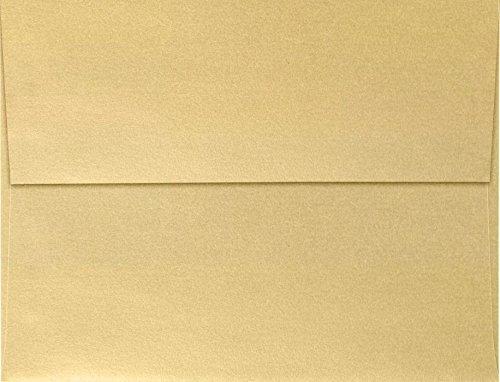 A4 Invitation Envelopes w/Peel & Press (4 1/4 x 6 1/4) - Light Blonde Metallic (50 Qty) | Perfect for Invitations, Announcements, Sending Cards, 4x6 Photos | 4872-M07-50 ()