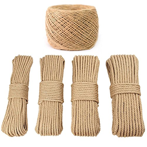 PGNROPE 100% Natural Linen Twisted Rope (1/12in x 100m(About 109 yd)) ()