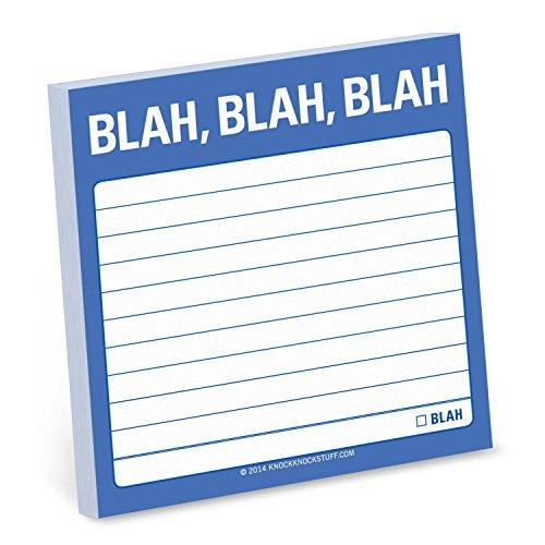 Knock Knock Blah Blah Blah Sticky Notes, 3 x 3-Inches