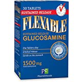 Glucosamine Tablets by Flexable 1500 mg 30 Tablets (1 Month Supply) High Strength Sustained Release Supplement Supports Healthy Joints