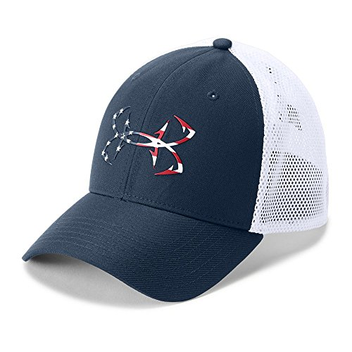 Under Armour Outerwear Men's Fish Hunter Cap, Academy (408)/White, Large/X-Large -