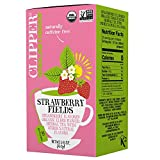 Clipper Organic Herbal Tea, Strawberry Fields, 20 Count, 6 Boxes