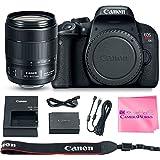 Canon EOS REBEL T7i Body SLR Digital Camera Value Bundle + Canon EF-S 18-135mm f3.5-5.6 Lens + Camera Works Microfiber Cloth