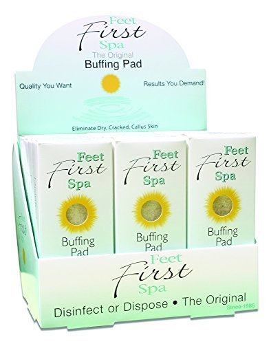 Feet First Spa Buffing Pad - 24 Pack by Healthy Glow, - Pad Spa Foot