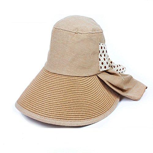 Hyunong Sun hat female sun protection summer summer sun hat beach hat UV protection hat electric bicycle riding big ()
