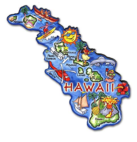 - Hawaii the Aloha State Artwood Jumbo Fridge Magnet