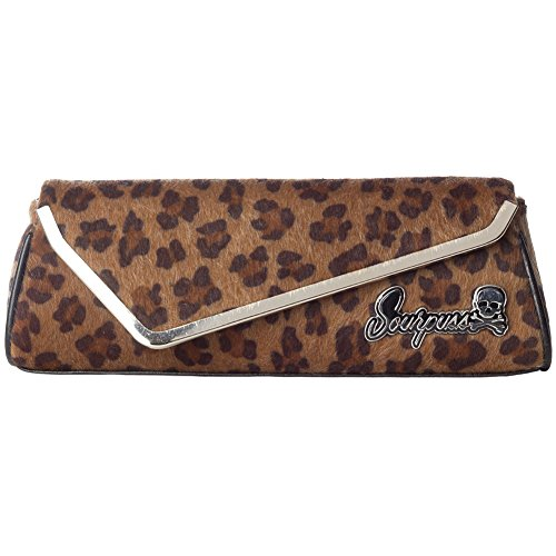 Sourpuss Clothing Tan Leopard Party Clutch