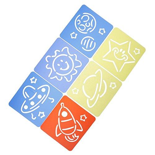 Prettyia ステンシル シート 描画テンプレート 絵の具 知育玩具 おもちゃ 描画ルーラー かわいい