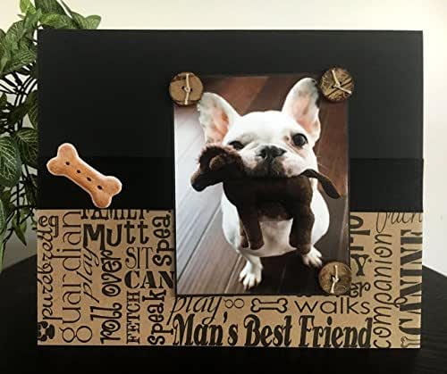 Amazon.com: Man\'s Best Friend V2 - Magnetic Picture Frame Handmade ...