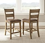 Steve Silver Upholstered Counter Chair – Set of 2 For Sale