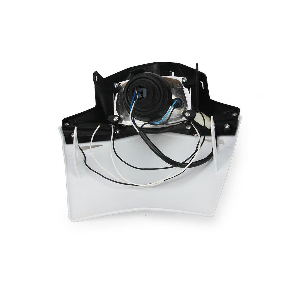 Universal Motorcycle Supermoto Headlight LED Dirt Bike Headlight Front Head Light For Yamaha YZ80 YZ85 YZ125 YZ250 YZ250F YZ400F YZ426F,Blue