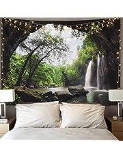 Dremisland Arazzo da Parete Tramonto Foresta Oceano e Montagne Appendere a Parete Wall Tapestry Mandala Hippie Psichedelica Arazzi Natura Decorazioni per Soggiorno Camera Dormitorio