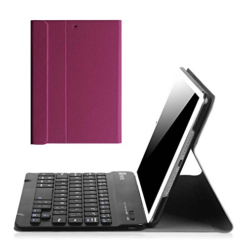 Fintie iPad Mini 1/2/3 Keyboard Case - Blade X1 Slim Shell Lightweight Cover with Magnetically Detachable Wireless Bluetooth Keyboard for iPad Mini 3 / iPad Mini 2 / iPad Mini 1, Purple