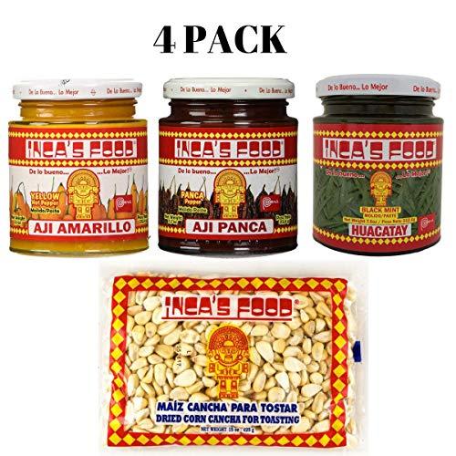 - Inca's Food Aji Amarillo - Aji Panca - Huacatay - Maiz Cancha - Peruvian Spices