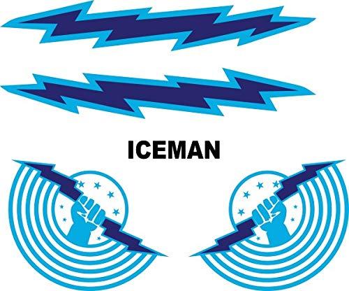 Top Gun Iceman Helmet Decal/Sticker Set Halloween Costume