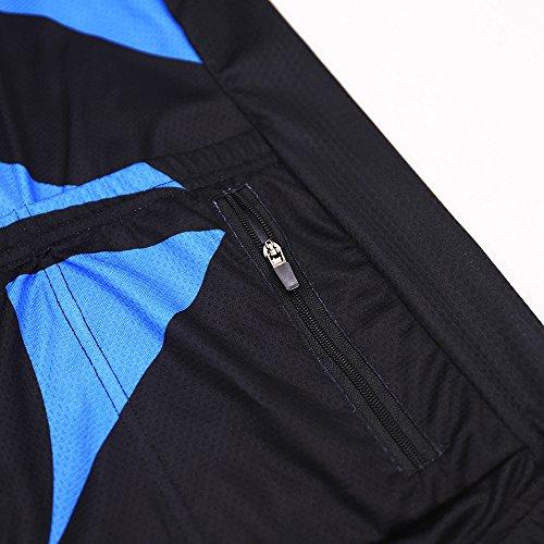 08f481bc017 ARSUXEO Men s Cycling Jersey Short Sleeves Mountain Bike Shirt MTB Top  Zipper Pockets Reflective ZY843 XXL