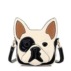 d-sun mujeres diseño de orejas de perro piel sintética Crossbody Bolsas Bolso Bolsa de hombro