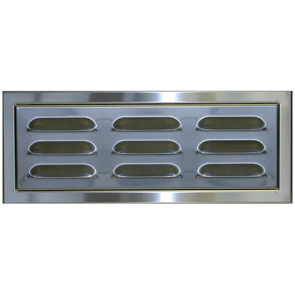 Stainless Steel Magnetic BBQ Island Vent Panel with 1 1/4'' Raised Frame for Masonry Application