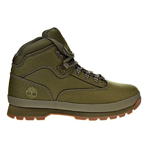 (Timberland Men's Euro Hiker Mid Fabric Fashion Sneaker, Olive, 11 M US)