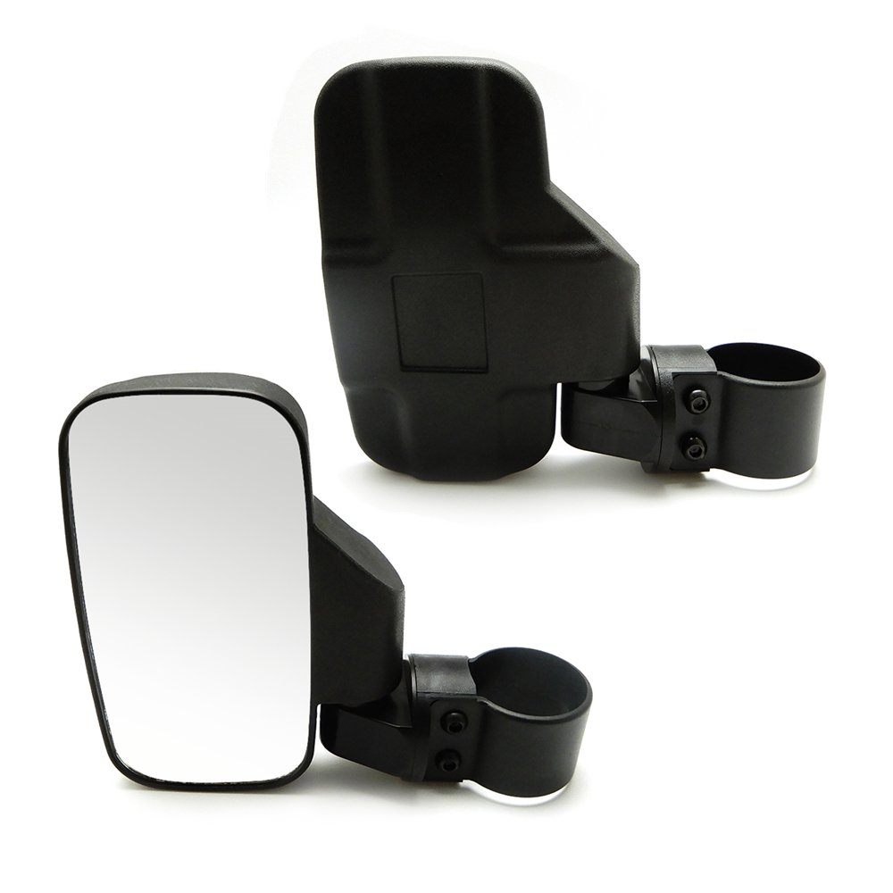 Issyzone UTV Side View Mirror for 1.5'' - 2'' Roll Cage Tempered Glass Breakaway Mirrors for Polaris Ranger RZR, Can Am Commander, Maverick X3, Gator, Teryx, Rhino YXZ and more
