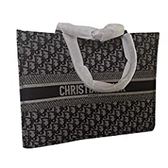 Womens BOOK TOTE BAG IN EMBROIDERED CANVAS Dior Hangbag OBLIQUE BAG