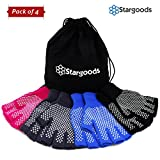 Stargoods Yoga Gloves - Pack of 4 Non slip pairs for Training & Workouts