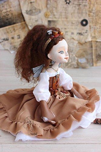 Steampunk fairy, Art clay doll, OOAK Art Doll, clay doll, Polymer clay doll, Handmade doll, Collecting doll, sculpted… 4