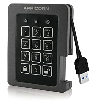 Image of Apricorn Aegis Padlock 240 GB SSD 256-Bit, FIPS 140-2 Level 2 Validated Ruggedized USB 3.0 Encrypted External Portable Drive External Solid State Drives