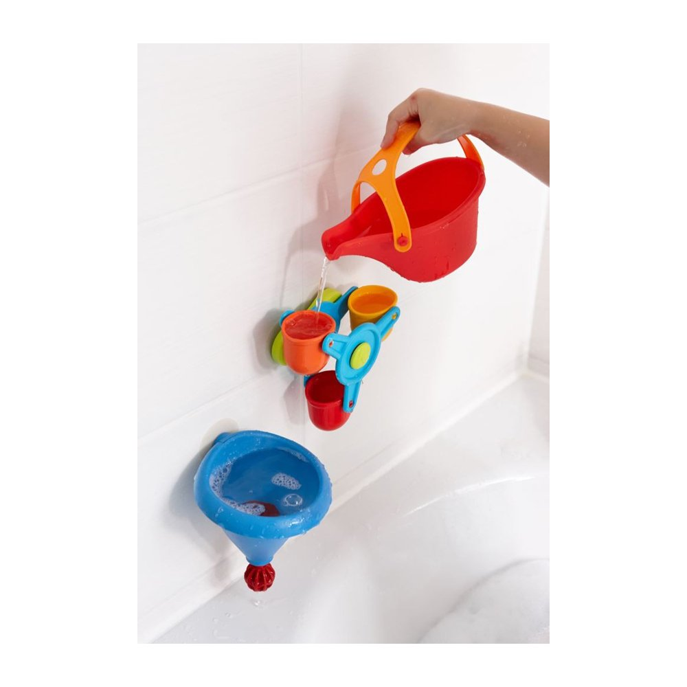 Amazon.com: HABA Bathtub Ball Track Bathing Bliss Water Wonders -  Waterwheel, Funnel and Watering Can for Endless Pouring Fun!: Toys & Games