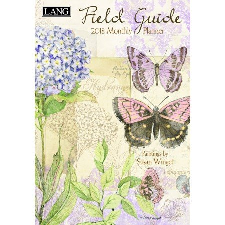 "LANG - 2018 Monthly Planner - ""Field Guide"" , Artwork By Susan Winget - 13-Month: January 2018 - January 2019 - 8.5"" x 12"""