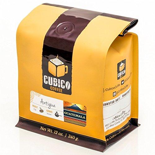 Guatemala Antigua Coffee - Ground Coffee - Freshly Roasted Coffee - Cubico Coffee - 12 Ounce (Single Origin Guatemalan Coffee)