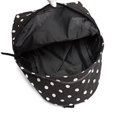 para lunares Negro de Lulu Mochila de mujer negro diseño lona niña Miss Waznwvqn