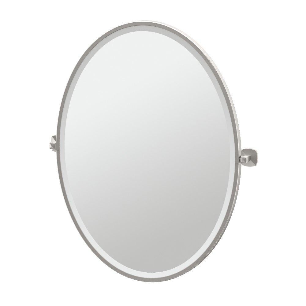 Gatco 4159FLG Jewel Framed Oval Mirror, Satin