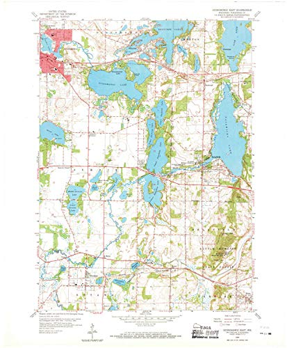 (YellowMaps Oconomowoc East WI topo map, 1:24000 Scale, 7.5 X 7.5 Minute, Historical, 1959, Updated 1969, 27.38 x 22.6 in - Paper)
