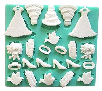 3D Mini vestido de princesa para pasta de molde de silicona moldes para Chocolate: Amazon.es: Hogar