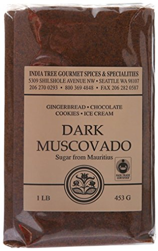 India Tree Dark Muscovado Sugar, 1 Pound (Pack of (Dark Sugar)